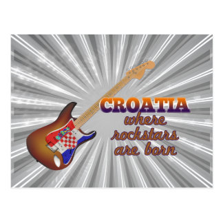 Rockstars are born in Croatia Postcard