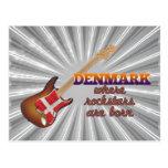 Rockstars are born in Denmark Postcard