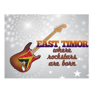 Rockstars are born in East Timor Postcard
