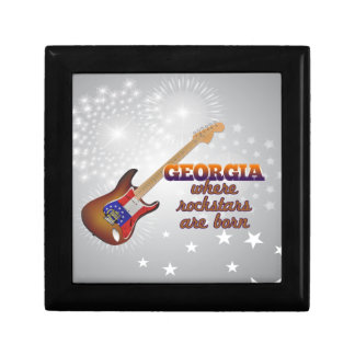 Rockstars are born in Georgia Keepsake Box