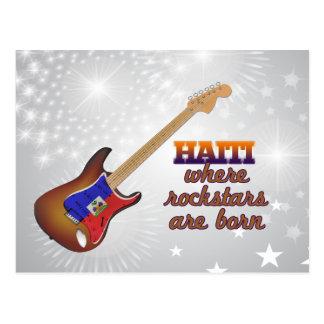 Rockstars are born in Haiti Postcard