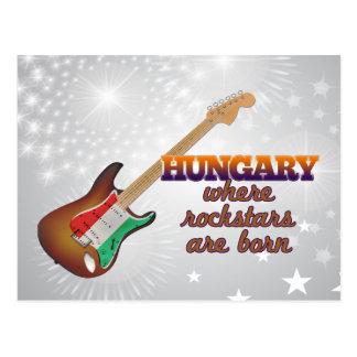 Rockstars are born in Hungary Postcard