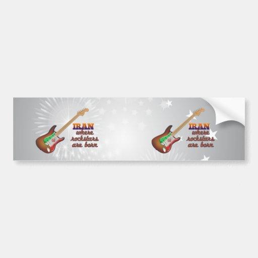 Rockstars are born in Iran Car Bumper Sticker