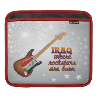 Rockstars are born in Iraq Sleeves For iPads