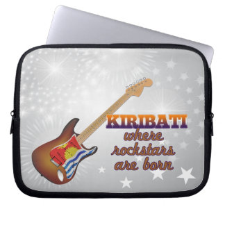 Rockstars are born in Kiribati Laptop Sleeve