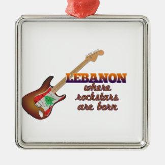Rockstars are born in Lebanon Metal Ornament