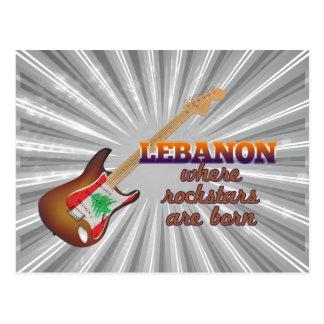 Rockstars are born in Lebanon Postcard