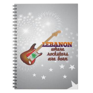 Rockstars are born in Lebanon Spiral Notebook