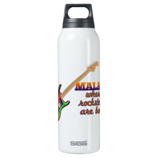 Rockstars are born in Malawi Insulated Water Bottle
