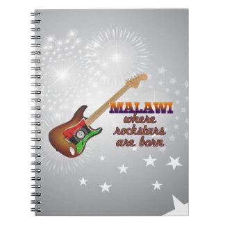 Rockstars are born in Malawi Spiral Notebook