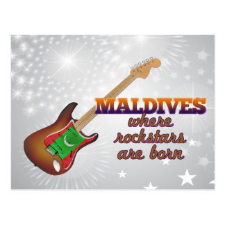 Rockstars are born in Maldives Postcard