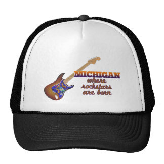 Rockstars are born in Michigan Trucker Hat