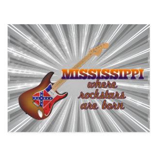 Rockstars are born in Mississippi Postcard