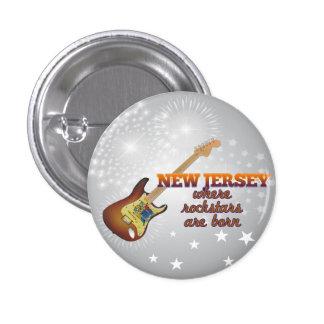 Rockstars are born in New Jersey Pinback Button