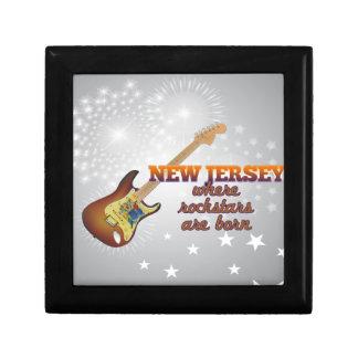 Rockstars are born in New Jersey Keepsake Box