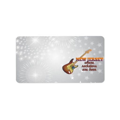 Rockstars are born in New Jersey Personalized Address Labels