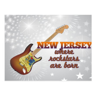 Rockstars are born in New Jersey Postcards