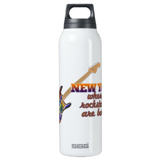 Rockstars are born in New York 16 Oz Insulated SIGG Thermos Water Bottle