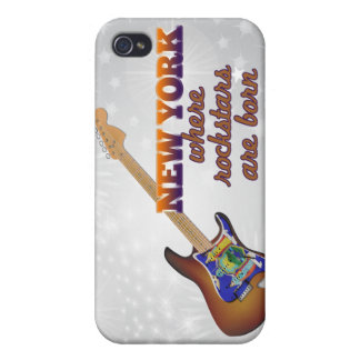 Rockstars are born in New York Cases For iPhone 4