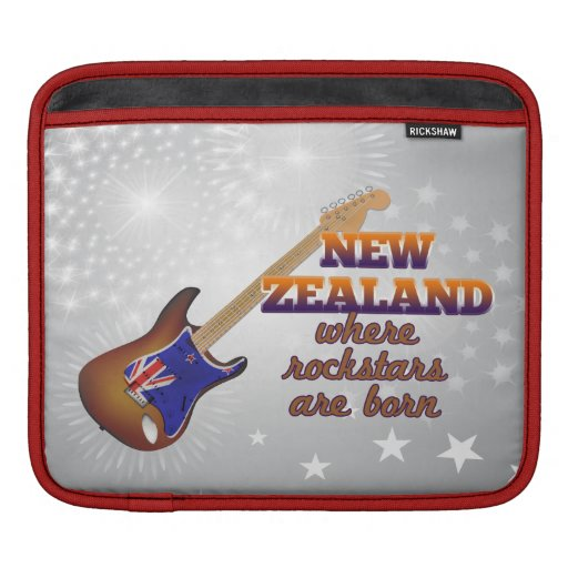 Rockstars are born in New Zealand Sleeves For iPads
