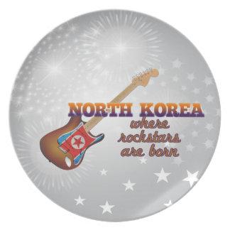 Rockstars are born in North Korea Dinner Plates