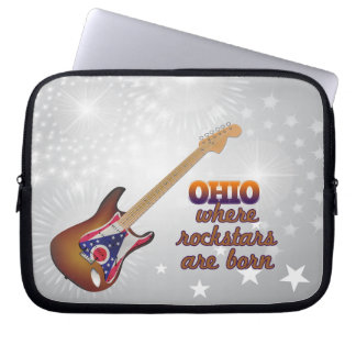 Rockstars are born in Ohio Computer Sleeves