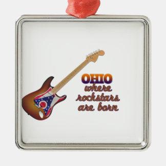 Rockstars are born in Ohio Ornament
