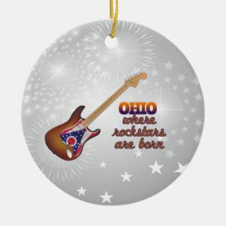 Rockstars are born in Ohio Ornaments