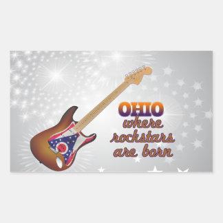 Rockstars are born in Ohio Rectangle Stickers