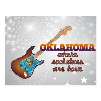 Rockstars are born in Oklahoma Postcard