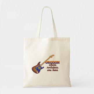 Rockstars are born in Oregon Tote Bag