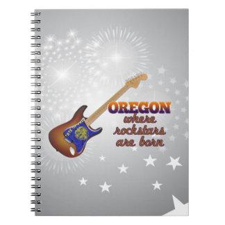 Rockstars are born in Oregon Spiral Notebook