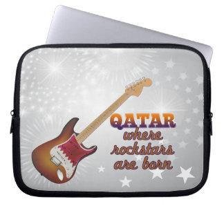 Rockstars are born in Qatar Laptop Sleeve