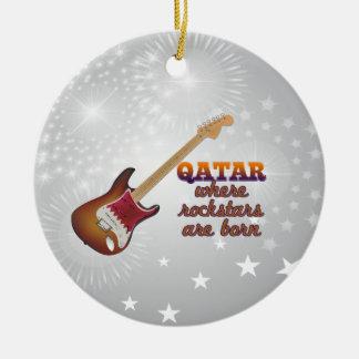Rockstars are born in Qatar Christmas Tree Ornaments