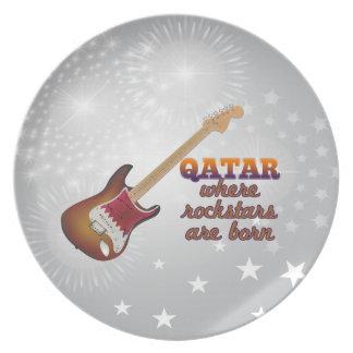 Rockstars are born in Qatar Party Plate