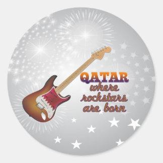 Rockstars are born in Qatar Round Sticker
