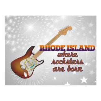 Rockstars are born in Rhode Island Postcard