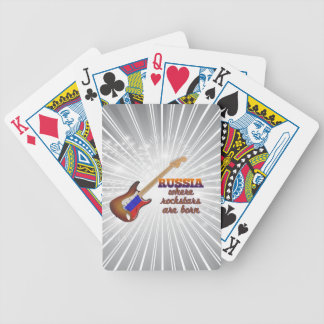Rockstars are born in Russia Bicycle Playing Cards