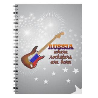 Rockstars are born in Russia Spiral Notebook