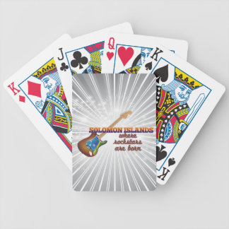 Rockstars are born in Solomon Islands Bicycle Playing Cards