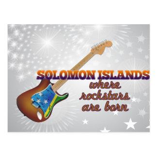 Rockstars are born in Solomon Islands Postcard