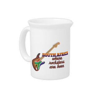 Rockstars are born in South Africa Drink Pitcher