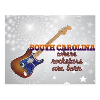 Rockstars are born in South Carolina Postcard