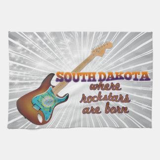 Rockstars are born in South Dakota Hand Towels