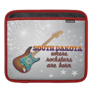 Rockstars are born in South Dakota Sleeve For iPads