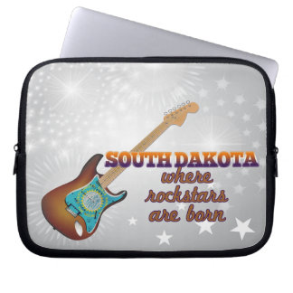 Rockstars are born in South Dakota Computer Sleeves