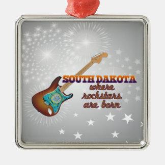 Rockstars are born in South Dakota Ornament