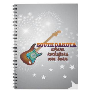 Rockstars are born in South Dakota Spiral Notebook