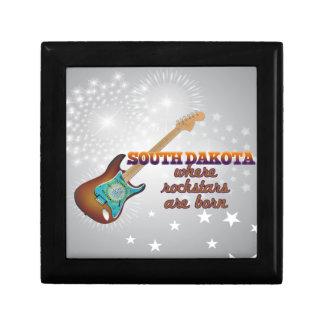 Rockstars are born in South Dakota Trinket Box