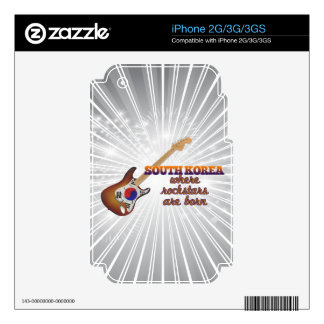 Rockstars are born in South Korea iPhone 2G Decal
